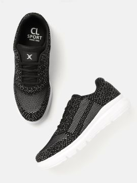 Black & White Woven Design Sneakers