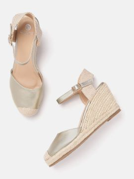 Gold-Toned Solid Wedges