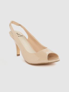 Nude-Coloured Solid Peep Toes