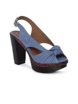 Blue Solid Sandals