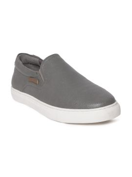 Charcoal Grey Slip-On Sneakers