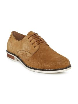 Tan Solid Leather Derbys