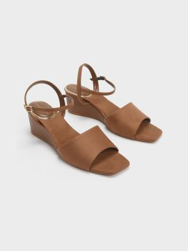 Brown Solid Sandals