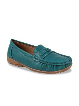 Teal Blue Loafers