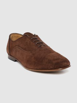 Coffee Brown Suede Leather Formal Oxfords