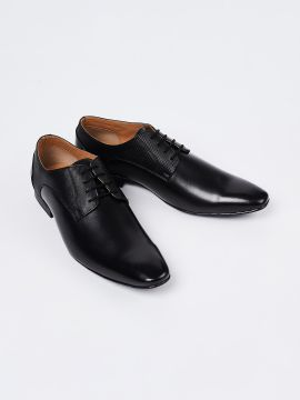 Black Textured Formal Derbys