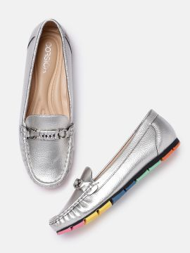 Silver-Toned Loafers