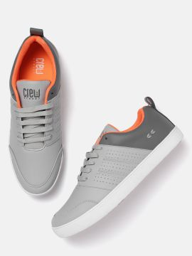 Grey Colourblocked Sneakers