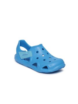 Blue Solid Clogs