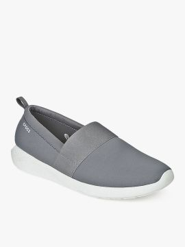 Grey Solid Loafers