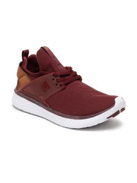 Burgundy Solid Sneakers