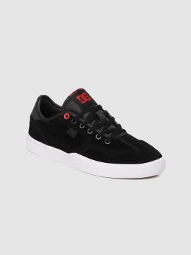Black Solid Suede Sneakers
