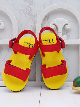 Yellow & Red Comfort Sandals