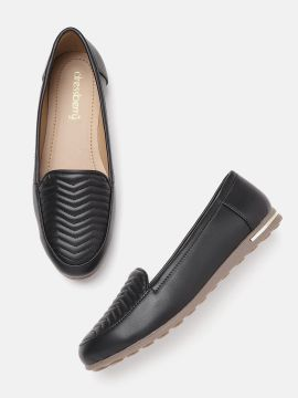 Black Quilted Slip-Ons