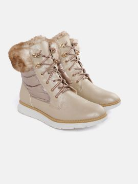Gold-Toned Flat Boots