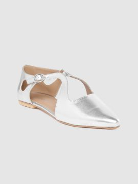 Silver-Toned Solid Flats