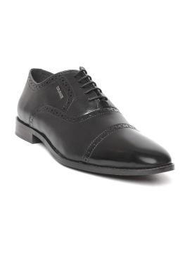 Black Solid Formal Brogues