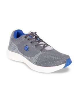 Grey Textile Running Shoes