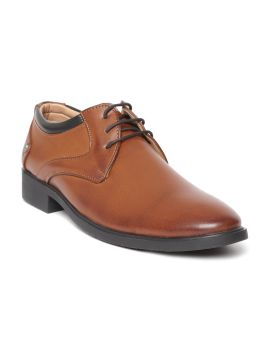 Tan Brown Solid Semi-Formal Derbys