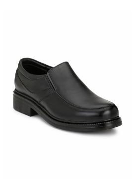 Black Formal Leather Slip-Ons