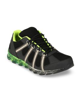 Black Leather Trekking Shoes