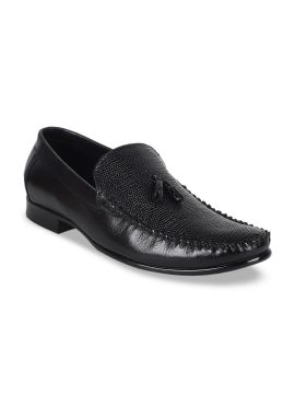 Black Formal Leather Loafers