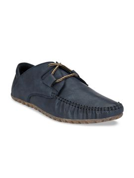 Blue Solid Lightweight Loafers