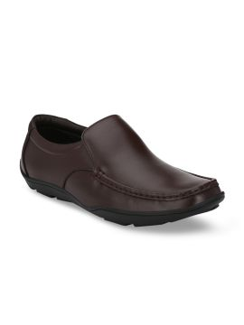 Brown Leather Formal Loafers