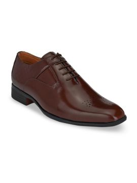 Brown Solid Formal Oxfords