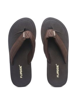 Brown Solid Thong Flip-Flops