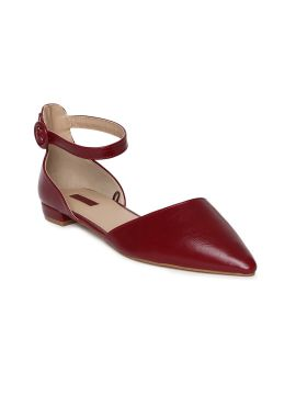 Red Solid Ballerinas