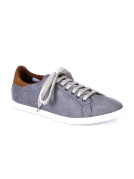 Grey Solid Regular Sneakers