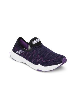 Purple Mesh Mid-Top Running Shoes