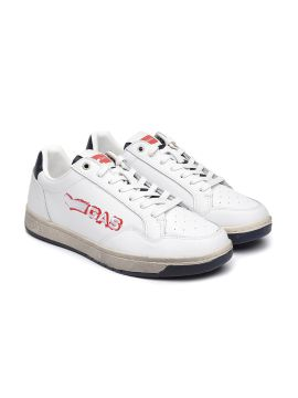 White TEAM BASE Leather Sneakers