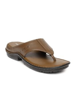 Tan Brown Leather Comfort Sandals