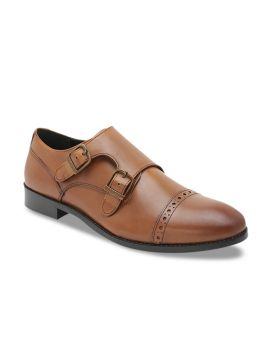 Tan Brown Leather Formal Monks