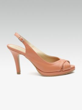 Peach-Coloured Solid Peep Toes