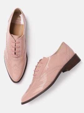 Pink Cushioned Brogues