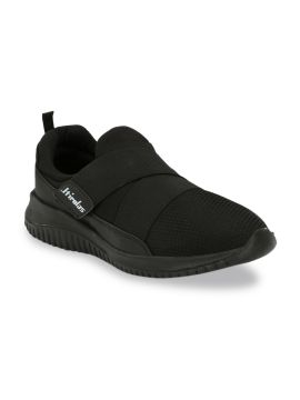 Black Athleisure Textile Training or Gym Shoes