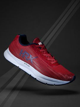 Red Textile N-FLUX Running Shoes