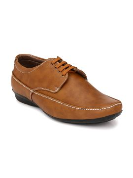 Tan Brown Semi-Formal Derby Shoes