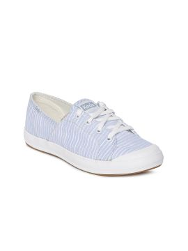 Blue & White Striped Sneakers