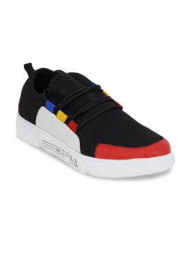 Black & Red Colourblocked Sneakers