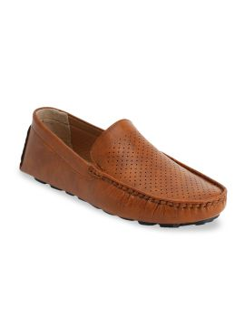 Tan Brown Driving Shoes