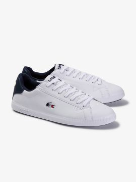 White Solid Leather Sneakers