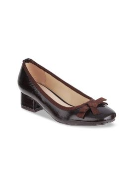 Brown Solid Pumps