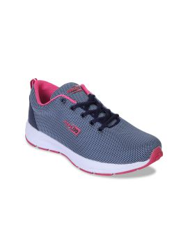 Blue & Pink Canvas Running Shoes