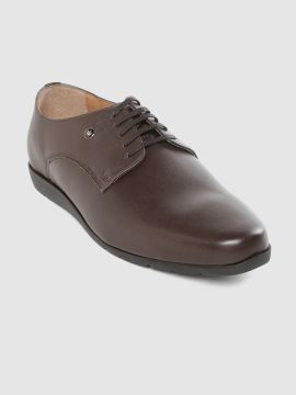 Coffee Brown Leather Formal Derbys