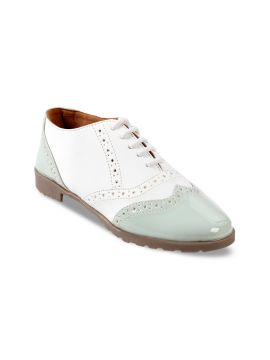 Blue & White Formal Brogues