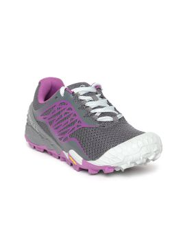 Charcoal Grey & Purple All Out Terra Light Running Shoes